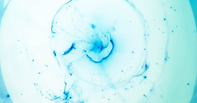 blue abstract resin art
