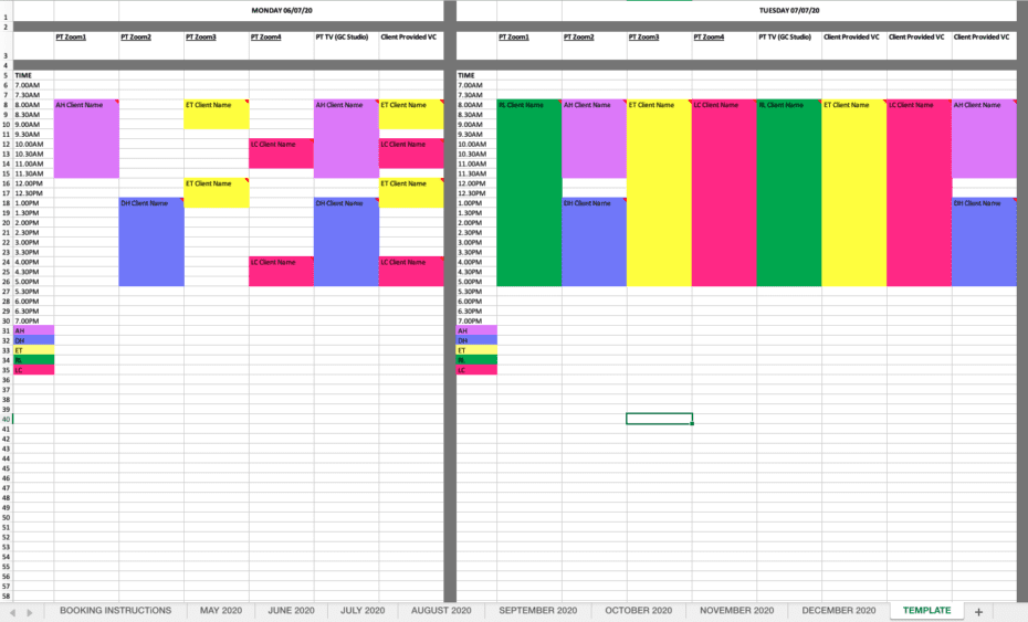optimise your zoom account spreadsheet system